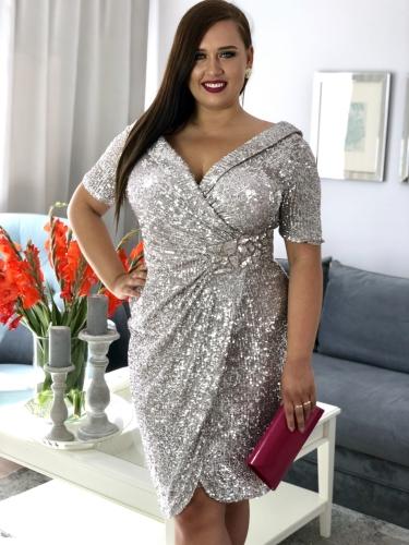 802762e8db5ceb Sukienki na wesele duże rozmiary, sukienki dla puszystych na wesele ...